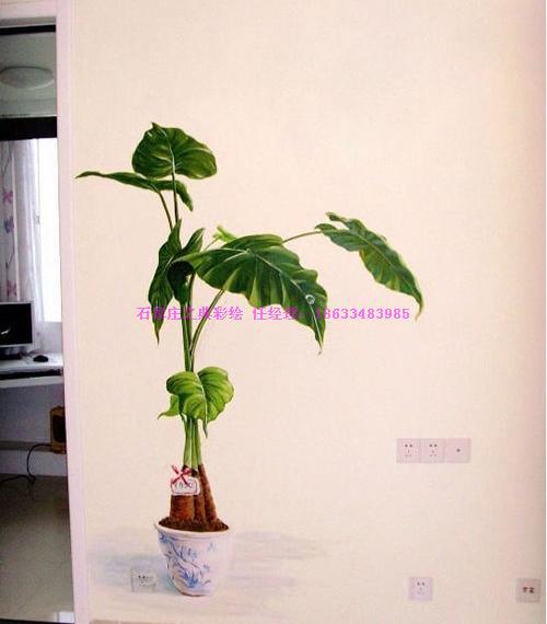 墙绘-艺术彩绘涂鸦,手绘壁画-把绿色森林种到卧室!